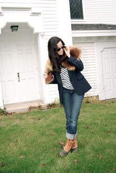 L.L.Bean Boots and rolled jeans