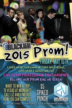 What 6 inch rule? May 15, 2015  Want all the fun of prom without all the awkwardness of being in high school and sober?  Well Black Bear Saloon has your answer!  Come on down Friday May 15th in your best gear and dance the night away!