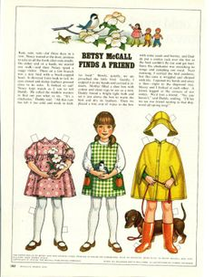 Vintage March 1979 Magazine Paper Doll Betsy McCall Finds a Friend