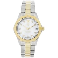 """TAG Heuer Women's WAF1320.BB0820 """"Aquaracer"""" Stainless Steel, 18k Gold, and Diamond Watch ** Check this awesome product by going to the link at the image. (This is an affiliate link) #Accessories"""
