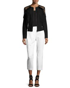 Kennedy+Straight-Leg+Cropped+Pants+and+Matching+Items+by+Elie+Tahari+at+Neiman+Marcus.