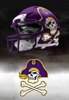 We need more gold Ecu Football, Football Helmet Design, College Football Helmets, Texas Longhorns Football, Sports Helmet, Football Uniforms, Ecu Pirates, Combat Helmet, Custom Helmets