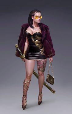 Modern day assassin, maybe of the supernatural variety, urban fantasy character inspiration  ArtStation - La Cosa Nostra, Yoon Seseon