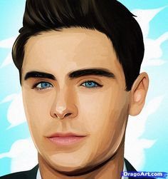 zac efron draw drawing easy drawings step caricatures simple sketch dragoart actors visit
