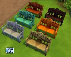 Mod The Sims - Sims 2 Medieval Loveseat