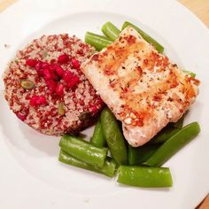 Healthy Living in Heels: Grilled Salmon with Mixed Quinoa and Sugar Snaps