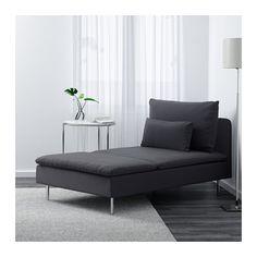 SÖDERHAMN Chaise-longue, Samsta grigio scuro Samsta grigio scuro
