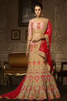 Attractive Pink Color Silk Embroidered Indian Designer Party Wear Lehenga Choli #zikkra #royalcollection #lehengacholi #weddinglehenga #traditional  #weddingwear indianlook #bridalwear #fashion #style #indianbride #embroidered #lehengaforsangit #festivalfashion #womenfashion