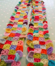 Scarf (but I want to make a doll's quilt using these squares)