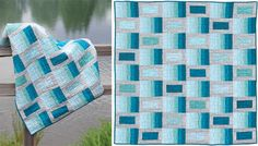 Color Waves quilt made by Amy Ellis with Radiance silk/cotton blend. Featured in her new book, Modern Basics II.