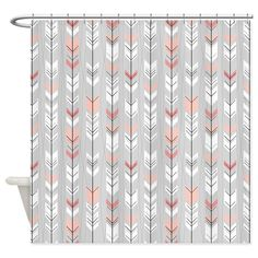 CafePress Purple and Grey Chevron Shower Curtain - Standard White ...