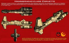 Hammerhead-class Corvette ortho [New] by unusualsuspex on DeviantArt