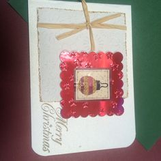 Christmas card, die cutting, embossing, handmade