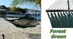Tropic Island Forest Green Caribbean Hammock