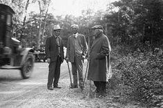Harvey Firestone, Henry Ford and Thomas Edison, 1923