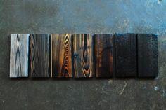 Yakisugi-ita technique for burnt cedar boards