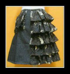 ANDRE VASSELLE batik jeans skirt