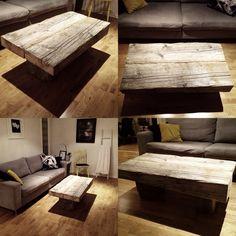 Hjemmelaget drivved bord. Furniture Makeover, Dyi, Woodworking, Design Inspiration, Couch, Interior Design, Pallets, Building, Home Decor
