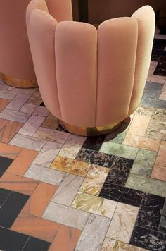 Gorgeous tile floor - pattern and colors! at Sketch, London
