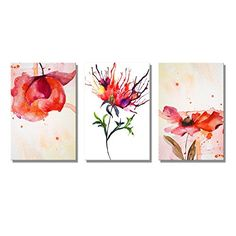 """Red Peony in WaterColor, King of Flowers 