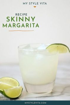Making a skinny margarita is super easy and refreshing. A delicious tequila cocktail to try that's low-carb and low in sugar. You only need 3 ingredients to whip up this delicious skinny margarita recipe. #mystylevita #recipe #cocktail #tequila