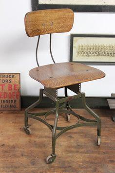 Dorset Finds Store — Toledo Uhl Draftsman Chair, ca. 1920s