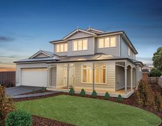 New 2 story design Hampton Completed in Bentleigh with James Hardie Linea weatherboards. Suited to a shallow block