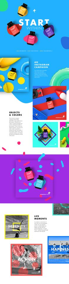 A case study about #Startwithin Hum campaign on Instagram. Visual color explosion by Romain Briaux.