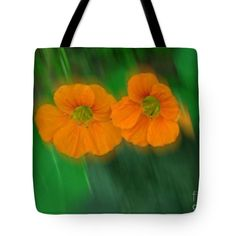 """Small Orange Aspens Bordered Tote Bag 18"""" x 18"""" by Joan-Violet Stretch"""