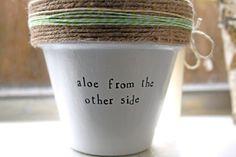 Adele Pun // Aloe Plant by PlantPuns on Etsy