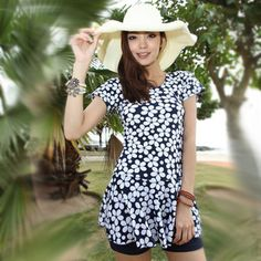 2012 new one piece plus size plus size with sleeves hot spring swimsuit female swimwear