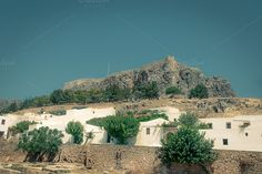 Check out Castle Lindos by ChristianThür Photography on Creative Market Architecture Photo, Island, Travel Destinations, Beautiful Places, Castle, Marketing, Mansions, House Styles, City
