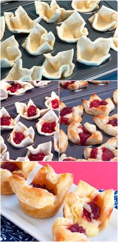 There are MANY different uses for cupcake trays! Why not line them with puff pastry and add fillings of your choice- Like these cranberry and brie bites!