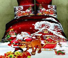 Cheap bed set, Buy Quality duvet cover directly from China full bedspread Suppliers: Promotion Christmas Gift For Kids Bedding Set Quilt cover Bed sets Bedclothe Duvet Covers Bedspreads Full/Queen Merry Christmas Santa, Christmas Gifts For Kids, Cozy Christmas, Christmas Trees, Father Christmas, White Christmas, Red Bedding, Duvet Bedding Sets, Luxury Bedding