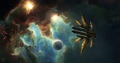 Jupiter Ascending - Titus Clipper Nebula, Jonas De Ro on ArtStation at https://www.artstation.com/artwork/jupiter-ascending-titus-clipper-nebula