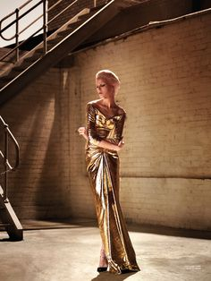 Incredible positioning of the model. Ruby Jean Wilson Charms in Gold Looks for Karen Magazine #14
