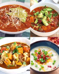 This healthy soup recipe round-up is full of vegan soup recipes, gluten free soup recipes, and chili recipes! Any of these recipes are perfect for meal prep any time of year! Make one today soup healthy recipes rezepte soup soup Healthy Soup Recipes, Chili Recipes, Diet Recipes, Healthy Snacks, Vegetarian Recipes, Cooking Recipes, Cooking Pork, Healthy Protein, High Protein