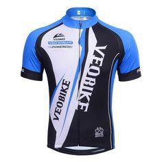VEOBIKE Men's Short Sleeve Breathable Cycling Sport Bike Jersey [Sz M-3XL]