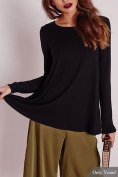 Long Sleeves Top with Open Back