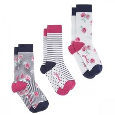 Joules Brilliant Bamboo Socks 3pk