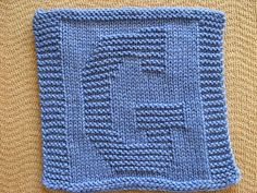 """Knitted """"G"""" Cloth by Rhonda White"""