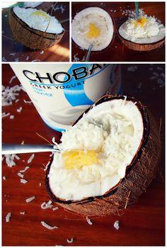 Coconut Almond Chobani - A Summer on the Island Treat!