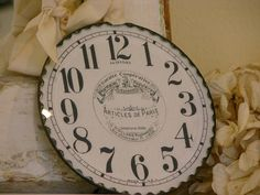 MJ Ornaments: Clock Face Ornament. I would make the numbers roman numeral.