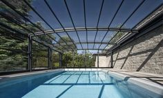 Pool Enclosure POPP PRESTIGE P5 saving & protecting water from the dirt - thus saving & reducing the use of pool chemistry