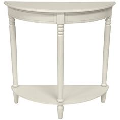 Oriental Furniture 31 Half Round Console Table  White ** Learn more by visiting the image link.Note:It is affiliate link to Amazon. #StunningLivingRoom