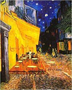 "Alessandro Fornero @AlessandroForn6 VAN GOGH, ""LE CAFÈ TERRACE À ARLES"" 1888 #vangogh #vincent #followart #iloveart #art #twitart #fineart #..."