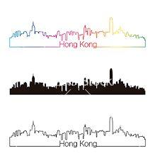 Image result for hong kong skyline silhouette