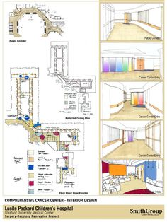 oncology center floor plans | ... oncology intake, reflected ceiling plan, floor plan / floor finishes: