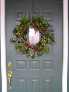 tutorial on how to make an evergreen wreath and save $$$  [3-23-12]