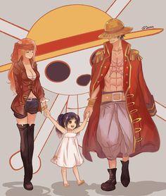 Luffy x Nami (LuNa) - One Piece no me agrada mucho la idea de ellos dos, aunque la imagen es linda
